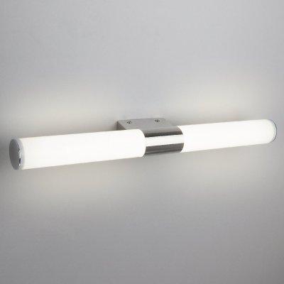 Venta LED 12W хром Электростандарт Настенный светодиодный светильникСовременные<br>Мощный светодиодный светильник Venta имеет возможность вертикального и горизонтального монтажа. Ультраяркие SMD светодиоды скрыты за матовым акриловым рассеивателем, что обеспечивает яркое и мягкое свечение. Гальваническое хромированное покрытие надежно защищает корпус светильника от механических и химических повреждений. Универсальный дизайн светильника Venta и различные варианты монтажа позволяют одинаково органично использовать его для подсветки зеркал в ванной комнате или для акцентного освещения предметов интерьера.<br> Мощность LED: 12 Вт Световой поток: 680 лм Свет: 4000 K белый Источник света: 70 SMD LED Энергоэффективность: до 95% Срок службы LED: 50 000 ч. Размеры: 540 х 50 х 95 мм Пылевлагозащита: IP20<br><br>Цветовая t, К: 4000<br>Тип лампы: LED<br>Ширина, мм: 540<br>Расстояние от стены, мм: 95<br>Высота, мм: 50<br>MAX мощность ламп, Вт: 12