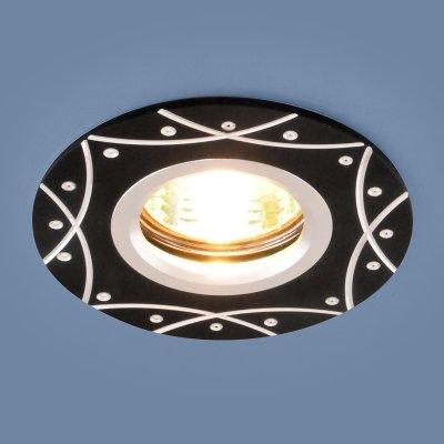 Алюминиевый точечный светильник Электростандарт 5157 MR16 BK черныйкруглые встраиваемые светильники<br>Лампа: MR16, max 50 Вт Диаметр: ? 95 мм Высота внутренней части: 20 мм Высота внешней части: 3 мм Монтажное отверстие: ? 60 мм Гарантия: 2 года