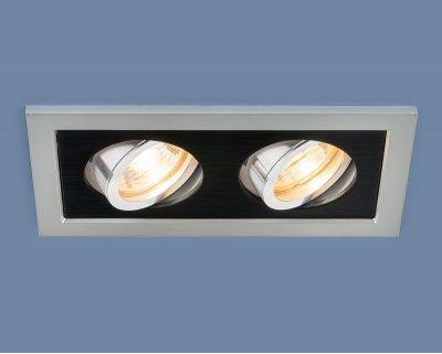Купить 1031/2 MR16 SL/BK серебро/черный Электростандарт Точечный светильник с поворотным механизмом, Китай