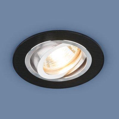 1061/1 MR16 BK черный Электростандарт Алюминиевый точечный светильникКарданные светильники<br>Лампа: MR16 G5.3 max 50 Вт Размер: ?92 мм Высота внутренней части: ? 23 мм Высота внешней части: ? 2 мм Монтажное отверстие: ?75 мм Гарантия: 2 года Алюминиевый корпус Светильник имеет поворотный механизм<br>