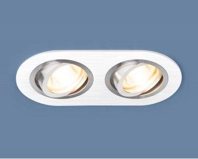 1061/2 MR16 WH белый Электростандарт Алюминиевый точечный светильникКарданные<br>Лампа: MR16 G5.3 max 50 Вт Размер: 172 х 92 мм Высота внутренней части: ? 23 мм Высота внешней части: ? 2 мм Монтажное отверстие: 155 х 75 мм Гарантия: 2 года Алюминиевый корпус Светильник имеет поворотный механизм<br>