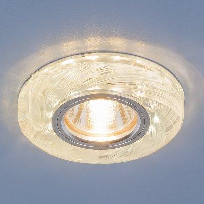 2191 MR16 CL/BL прозрачный/голубой Электростандарт Точечный светодиодный светильникКруглые встраиваемые светильники<br>Лампа: MR16 G5.3 max 35 Вт Размер: ?100 мм Высота внутренней части: ? 13 мм Высота внешней части: ? 17 мм Монтажное отверстие:  ?65 мм Гарантия: 2 года<br><br>Тип цоколя: gu5.3<br>Диаметр, мм мм: 100<br>Диаметр врезного отверстия, мм: 65<br>MAX мощность ламп, Вт: 35