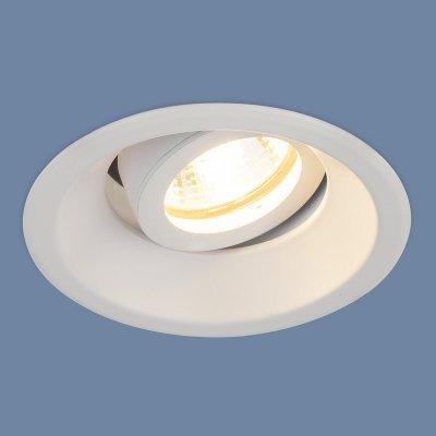 6068 MR16 WH белый Электростандарт Алюминиевый точечный светильникКарданные<br>Лампа: MR16 G5.3 max 50 Вт Размер: ?105 мм Высота внутренней части: ? 42 мм Высота внешней части: ? 3 мм Монтажное отверстие: ?90 мм Гарантия: 2 года Алюминиевый корпус Светильник имеет поворотный механизм<br>