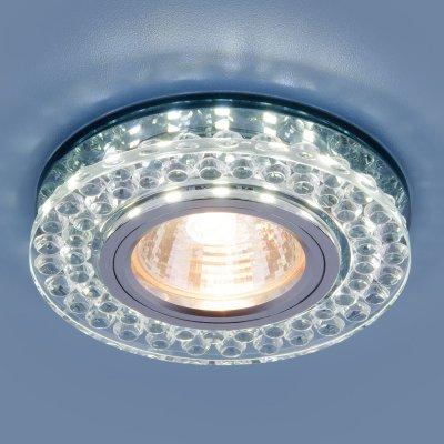 8381 MR16 CL/SBK прозрачный/дымчатый Электростандарт Точечный светодиодный светильникКруглые<br>Лампа: MR16 G5.3 max 35 Вт Размер: ?90 мм Высота внутренней части: ? 13 мм Высота внешней части: ? 19 мм Монтажное отверстие:  ?60 мм Гарантия: 2 года<br><br>Тип цоколя: gu5.3<br>Диаметр, мм мм: 90<br>Диаметр врезного отверстия, мм: 60<br>MAX мощность ламп, Вт: 35