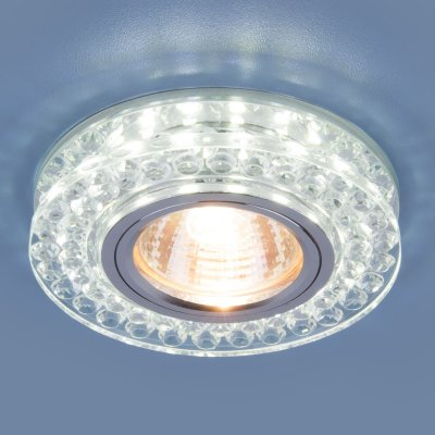 8381 MR16 CL/SL прозрачный/серебро Электростандарт Точечный светодиодный светильникКруглые встраиваемые светильники<br>Лампа: MR16 G5.3 max 35 Вт Размер: ?90 мм Высота внутренней части: ? 13 мм Высота внешней части: ? 19 мм Монтажное отверстие:  ?60 мм Гарантия: 2 года<br><br>Тип цоколя: gu5.3<br>Диаметр, мм мм: 90<br>Диаметр врезного отверстия, мм: 60<br>MAX мощность ламп, Вт: 35