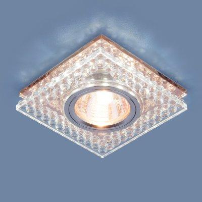 8391 MR16 CL/GC прозрачный/тонированный Электростандарт Точечный светодиодный светильникКвадратные встраиваемые светильники<br>Лампа: MR16 G5.3 max 35 Вт Размер: 95x95 мм Высота внутренней части: ? 13 мм Высота внешней части: ? 19 мм Монтажное отверстие:  ?60 мм Гарантия: 2 года<br><br>Тип цоколя: gu5.3<br>Ширина, мм: 95<br>Диаметр врезного отверстия, мм: 60<br>Длина, мм: 95<br>MAX мощность ламп, Вт: 35