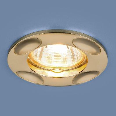 7008 MR16 GD золото Электростандарт Точечный светильникКруглые встраиваемые светильники<br>Лампа: MR16, max 50 Вт Диаметр: ? 95 мм Высота внутренней части: 24 мм Высота внешней части: 3 мм Монтажное отверстие: ? 65 мм Гарантия: 2 года<br><br>Тип цоколя: gu5.3<br>Диаметр, мм мм: 95<br>Диаметр врезного отверстия, мм: 65<br>MAX мощность ламп, Вт: 50