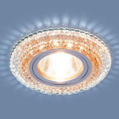 2193 MR16 CL/OR прозрачный/оранжевый Электростандарт Точечный светодиодный светильникХрустальные<br>Лампа: MR16, max 35 Вт + LED Мощность LED подсветки: 3 Вт Диаметр: ? 95 мм Высота внутренней части: 12 мм Высота внешней части: 12 мм Монтажное отверстие: ? 60 мм Гарантия: 2 года<br><br>Тип цоколя: gu5.3<br>Диаметр, мм мм: 95<br>Диаметр врезного отверстия, мм: 60<br>MAX мощность ламп, Вт: 35