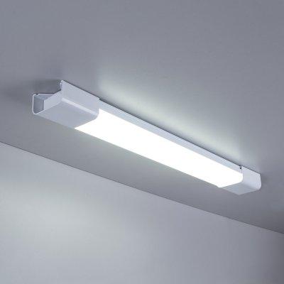 LTB0201D 60 см 18W  Электростандарт Пылевлагозащищенный светодиодный светильникЛинейные светодиодные светильники<br>Мощность: 18 Вт Световой поток: 1200 лм Cвет: холодный белый 6500 К Угол свечения: 120° Питание: 220 В, 50 Гц Режим работы: –20° ... +40° С Пылевлагозащищенность: IР65 Срок службы: 50 000 ч Источник света: 88 светодиодов  Материал корпуса: пластик Материал рассеивателя: акрил Гарантия: 3 года<br><br>Цветовая t, К: 6500<br>Тип лампы: LED<br>MAX мощность ламп, Вт: 12