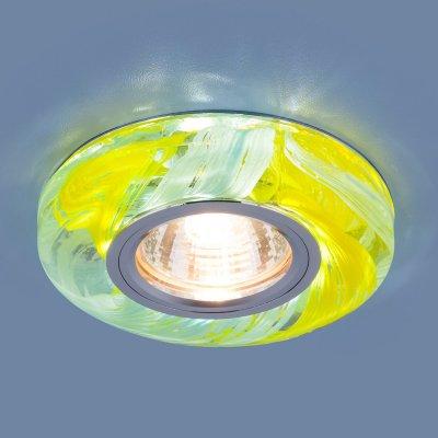 2191 MR16 YL/BL желтый/голубой Электростандарт Точечный светодиодный светильникКруглые<br>Лампа: MR16 G5.3 max 35 Вт Размер: ?100 мм Высота внутренней части: ? 13 мм Высота внешней части: ? 17 мм Монтажное отверстие:  ?65 мм Гарантия: 2 года<br><br>Тип цоколя: gu5.3<br>Диаметр, мм мм: 100<br>Диаметр врезного отверстия, мм: 65<br>MAX мощность ламп, Вт: 35