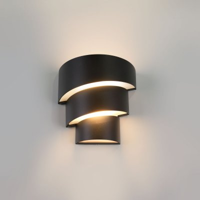 Уличный настенный светодиодный светильник 1535 TECHNO LED Электростандарт черныйуличные настенные светильники<br>