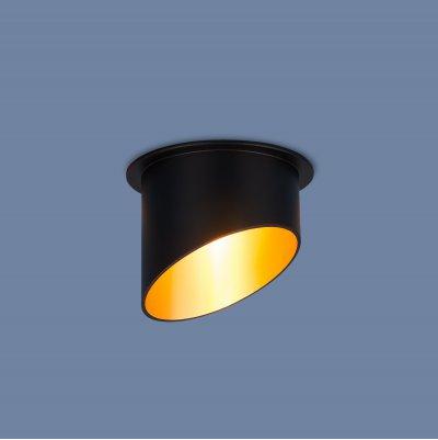Светильник Электростандарт 7005 MR16 BK/GD черный/золотометаллические встраиваемые светильники<br>