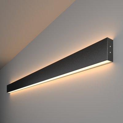 Линейный светодиодный накладной двусторонний светильник (LSG-02-2-8*128-3000-MSh) Электростандарт 128см 50W 3000K черная шагрень a042920