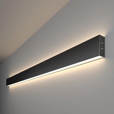 Линейный светодиодный накладной двусторонний светильник (LSG-02-2-8*128-4200-MSh) Электростандарт 128см 50W 4200K черная шагрень фото