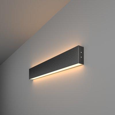 Линейный светодиодный накладной двусторонний светильник (LSG-02-2-8*53-3000-MSh) Электростандарт 53см 20W 3000K черная шагрень фото
