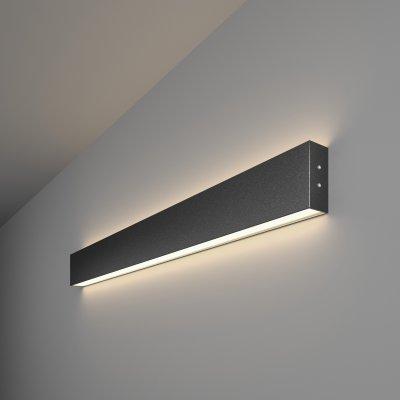 Линейный светодиодный накладной двусторонний светильник (LSG-02-2-8*78-4200-MSh) Электростандарт 78см 30W 4200K черная шагрень фото