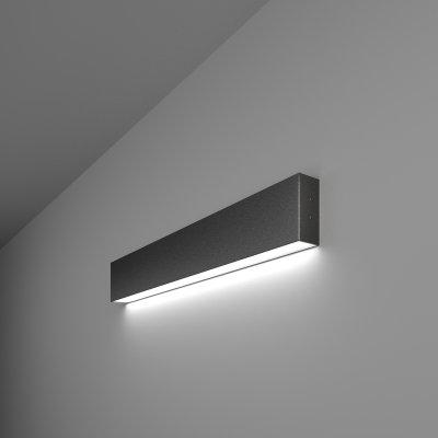 Линейный светодиодный накладной односторонний светильник (LSG-02-1-8*53-6500-MSh) Электростандарт 53см 10W 6500K черная шагрень фото
