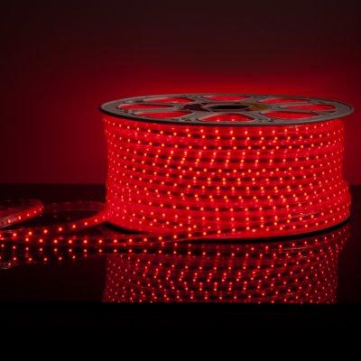Лента 220 В Лента светодиодная 220V 4,8W 60Led 2835 IP65 красный, 50 м (LS004 220V) Электростандарт фото