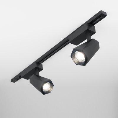 Трековый светодиодный светильник для однофазного шинопровода Magnum черный матовый 20W 4200K LTB46 LTB46 однофазный фото
