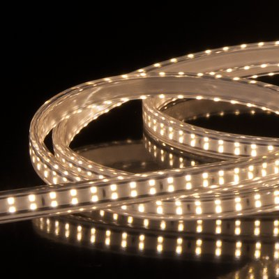Комплект светодиодной ленты Premium белой двухрядной 10м 18 Вт/м 180 LED 2835 IP65 LS011 220V фото