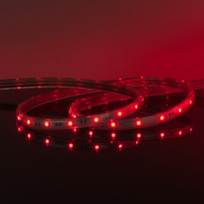 Комплект светодиодной ленты красной 10 м 4,4 Вт/м 60 LED 3528 IP65 LSTR001 220V 4,4W IP65 фото