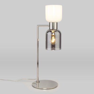 Настольная лампа со стеклянными плафонами Евросвет 01084/2 никель Tandem