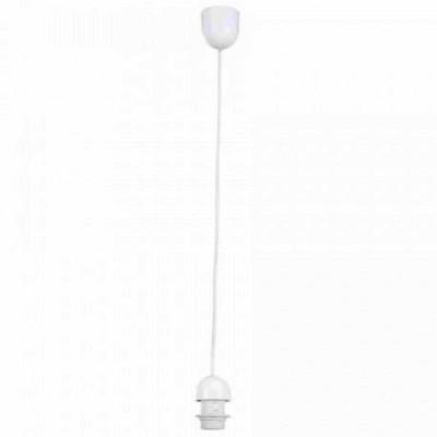 Патрон со шнуром белый Globo A1Патрон со шнуром<br><br><br>S освещ. до, м2: 3<br>Тип лампы: Накаливания / энергосбережения / светодиодная<br>Тип цоколя: E27<br>Цвет арматуры: белый<br>Количество ламп: 1<br>Диаметр, мм мм: 70<br>Высота, мм: 1000<br>MAX мощность ламп, Вт: 60
