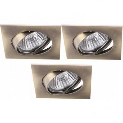 Светильник встраиваемый Arte lamp A2118PL-3AB Quadratisch (3шт)квадратные точечные светильники<br>Встраиваемые светильники – популярное осветительное оборудование, которое можно использовать в качестве основного источника или в дополнение к люстре. Они позволяют создать нужную атмосферу атмосферу и привнести в интерьер уют и комфорт. <br> Интернет-магазин «Светодом» предлагает стильный встраиваемый светильник ARTE Lamp A2118PL-3AB. Данная модель достаточно универсальна, поэтому подойдет практически под любой интерьер. Перед покупкой не забудьте ознакомиться с техническими параметрами, чтобы узнать тип цоколя, площадь освещения и другие важные характеристики. <br> Приобрести встраиваемый светильник ARTE Lamp A2118PL-3AB в нашем онлайн-магазине Вы можете либо с помощью «Корзины», либо по контактным номерам.