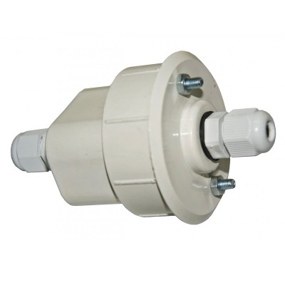 Коннектор-заглушка с гермовводом Arte lamp a220033 HighwayЭлектромонтажные изделия<br><br><br>Цвет арматуры: белый<br>Диаметр, мм мм: 70<br>Высота, мм: 110