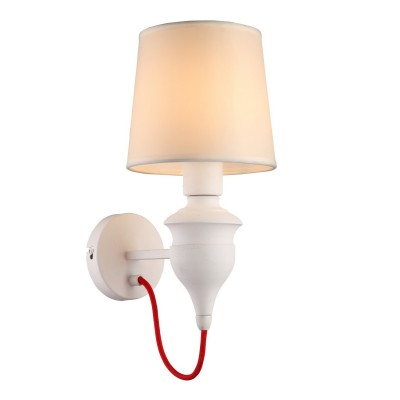 Светильник Arte lamp a3325ap-1wh SergioСовременные<br><br><br>Тип лампы: Накаливания / энергосбережения / светодиодная<br>Тип цоколя: E14<br>Цвет арматуры: белый<br>Количество ламп: 1<br>Ширина, мм: 160<br>Расстояние от стены, мм: 230<br>Высота, мм: 350<br>MAX мощность ламп, Вт: 40