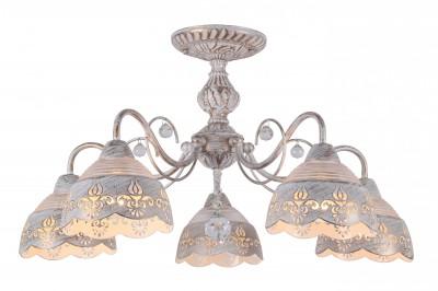 Люстра Arte lamp A9106PL-5WG Siciliaлюстры потолочные классические<br>Люстра Arte lamp A9106PL-5WG Sicilia сделает Ваш интерьер современным, стильным и запоминающимся! Наиболее функционально и эстетически привлекательно модель будет смотреться в гостиной, зале, холле или другой комнате. А в комплекте с настенными бра и торшером из этой же коллекции, сделает интерьер по-дизайнерски профессиональным и законченным.