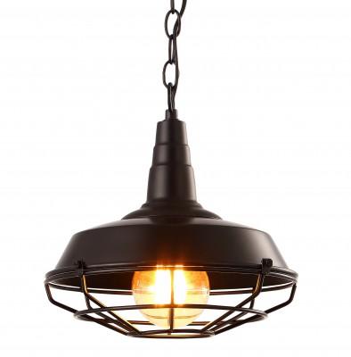 Светильник подвесной Arte lamp A9181SP-1BK Ferricoодиночные подвесные светильники<br>Светильник подвесной Arte lamp A9181SP-1BK Ferrico отличается регулировкой по высоте и сделает Ваш интерьер современным, стильным и запоминающимся! Наиболее функционально и эстетически привлекательно модель будет смотреться в гостиной, зале, холле или другой комнате. А в комплекте с люстрой, бра или торшером из этой же коллекции сделает ремонт по-дизайнерски профессиональным и законченным.