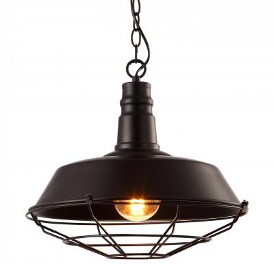 Светильник подвесной Arte lamp A9183SP-1BK Ferricoодиночные подвесные светильники<br>Светильник подвесной Arte lamp A9183SP-1BK Ferrico отличается регулировкой по высоте и сделает Ваш интерьер современным, стильным и запоминающимся! Наиболее функционально и эстетически привлекательно модель будет смотреться в гостиной, зале, холле или другой комнате. А в комплекте с люстрой, бра или торшером из этой же коллекции сделает ремонт по-дизайнерски профессиональным и законченным.