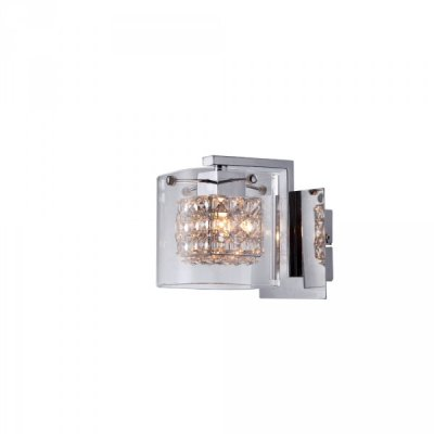 Настенный бра Arte lamp A9473AP-1CC AuroraМодерн<br><br><br>S освещ. до, м2: 3<br>Тип лампы: галогенна / LED-светодиодна<br>Тип цокол: G9<br>Количество ламп: 1<br>Ширина, мм: 160<br>MAX мощность ламп, Вт: 40<br>Диаметр, мм мм: 180<br>Высота, мм: 120