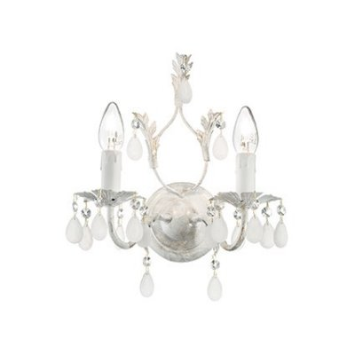Светильник бра Ideal Lux CASCINA AP2Флористика<br><br><br>Тип цоколя: E14<br>Количество ламп: 2<br>Диаметр, мм мм: 270<br>Расстояние от стены, мм: 190<br>Высота, мм: 300<br>MAX мощность ламп, Вт: 40