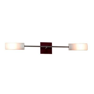 Светильник настенный бра Citilux CL118121 Болеросовременные бра модерн<br>Настенное бра Citilux CL118121 представлено в ультрамодном направлении модерн, уникальном для реализации интересных дизайнерских задумок. Для создания изделия были использованы разноплановые материалы: натуральное дерево, крепкий металл и прочное стекло. Сильный тандем для мощного настенного бра! Цилиндрическая форма двух белоснежных плафонов гармонично вписывается в общую концепцию направления модерн. Бра Citilux CL118121 станет предпочтением для ценителей лаконичной геометрии и правильных форм. Современный интерьер требует особого подхода к декорированию. Поэтому если Вы планируете наполнить своё пространство модным светом, то обращайтесь к бра Citilux CL118121.