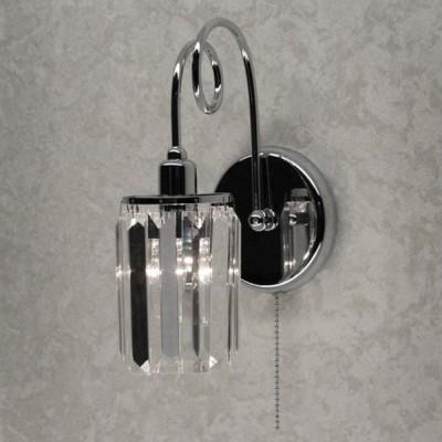 Citilux CL330311 Светильник настенный браХрустальные<br><br><br>Тип лампы: Накаливания / энергосбережения / светодиодная<br>Тип цоколя: E14<br>Количество ламп: 1<br>Ширина, мм: 170<br>MAX мощность ламп, Вт: 60<br>Длина, мм: 150<br>Высота, мм: 230<br>Цвет арматуры: серебристый