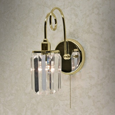 Citilux CL330312 СветильникХрустальные<br><br><br>Тип лампы: Накаливания / энергосбережения / светодиодная<br>Тип цоколя: E14<br>Количество ламп: 1<br>Ширина, мм: 150<br>MAX мощность ламп, Вт: 60<br>Расстояние от стены, мм: 170<br>Высота, мм: 230