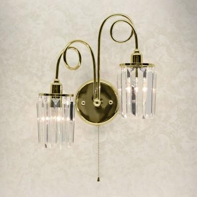 Citilux CL330322 СветильникХрустальные<br><br><br>Тип лампы: Накаливания / энергосбережения / светодиодная<br>Тип цоколя: E14<br>Количество ламп: 2<br>Ширина, мм: 380<br>MAX мощность ламп, Вт: 60<br>Расстояние от стены, мм: 170<br>Высота, мм: 400
