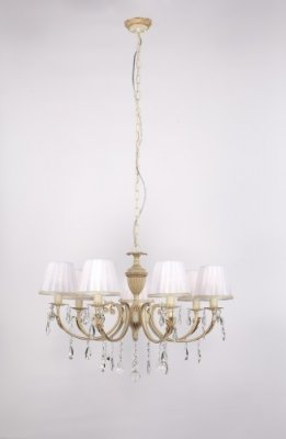 Citilux CL423171 Люстра подвеснаяПодвесные<br><br><br>S освещ. до, м2: 28<br>Тип товара: Люстра подвесная<br>Тип лампы: накаливания / энергосбережения / LED-светодиодная<br>Тип цоколя: E14<br>Количество ламп: 7<br>MAX мощность ламп, Вт: 60<br>Размеры: Диаметр 74см, Высота без цепи 52см<br>Поверхность арматуры: глянцевый, рельефный<br>Цвет арматуры: золото, кремовый