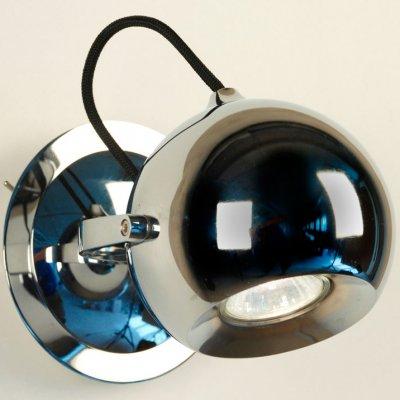 Citilux CL532511 Светильник настенно-потолочныйОдиночные<br><br><br>S освещ. до, м2: 3<br>Тип товара: Светильник настенно-потолочный<br>Тип лампы: галогенная<br>Тип цоколя: GU10<br>Количество ламп: 1<br>MAX мощность ламп, Вт: 50<br>Размеры: Диаметр основания 9см, Диаметр шара 10см, Шнур в текстильной оболочке