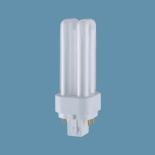 Лампа люминесцентная Osram Dulux D/E 18W/21-840 G24q-2Компактные ЛЛ<br>Лампы OSRAM DULUX® D/E для электронных пускорегулирующих аппаратов (ЭПРА) и светорегуляторовКомпактные люминесцентные лампы OSRAM DULUX® D/E предназначены для работы с высокочастотными ПРА и светорегуляторами.Эти инновационные энергосберегающие лампы работают от аккумуляторов, солнечных батарей или от сети, в диапазоне высокого и низкого напряжения, например, с ЭПРА ACCUTRONIC®. Световой поток ламп OSRAM DULUX® D/E может регулироваться с помощью светорегулятора. По своей конструкции и мощности они соответствуют хорошо зарекомендовавшим себя базовым типам ламп OSRAM DULUX® D.Применение с отдельными электронными ПРА обеспечивает возможность подключения ламп практически ко всем источникам питания: сети, аккумуляторам, батареям и солнечным энергоустановкам. Как правило, эти лампы используются там, где часто регулируется световой поток, а также в установках аварийного освещения магазинов, административных зданий и т.д.с питанием от батарей.- при работе с электронными ПРА срок службы этих ламп превышает срок службы ламп накаливания аналогичной яркости в десять раз- очень приятный свет при работе от ЭПРА- укороченный цоколь исключает применение двухштырьковых ламп в новых патронах D/E, однако подходит к старым патронам D/E- удвоенный световой поток при такой же установочной длине, как у ламп OSRAM DULUX® S/E- световой поток в зависимости от типа лампы составляет от 600 до 1800лм- одинаковый с лампами OSRAM DULUX® D типоразмер этих ламп обеспечивает возможность унификации конструкции светильников, используемых в системах аварийного освещения - односторонний четырехштырьковый цоколь G24q. Классификация: W15 lm90 d60 l105 E27 W25 lm220 d60 l105 E27 W40 lm420 d60 l105 E27 W60 lm720 d60 l105 E27 W75 lm940 d60 l105 E27 W100 lm1360 d60 l105 E27 W150 lm2200 d65 l123 E27 W200 lm3100 d80 l156 E27  Сокращения: W-мощность в вт, lm-световой поток в люменах, d-диаметр в mm, l-длина в мм, E27,E14...-цоколи (стандартны