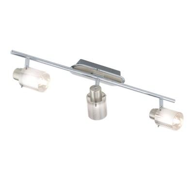 Eglo TAROLO1 92767 Светильник поворотный спотТройные<br>Светильники-споты – это оригинальные изделия с современным дизайном. Они позволяют не ограничивать свою фантазию при выборе освещения для интерьера. Такие модели обеспечивают достаточно качественный свет. Благодаря компактным размерам Вы можете использовать несколько спотов для одного помещения. <br>Интернет-магазин «Светодом» предлагает необычный светильник-спот Eglo 92767 по привлекательной цене. Эта модель станет отличным дополнением к люстре, выполненной в том же стиле. Перед оформлением заказа изучите характеристики изделия. <br>Купить светильник-спот Eglo 92767 в нашем онлайн-магазине Вы можете либо с помощью формы на сайте, либо по указанным выше телефонам. Обратите внимание, что мы предлагаем доставку не только по Москве и Екатеринбургу, но и всем остальным российским городам.<br><br>S освещ. до, м2: 6<br>Тип лампы: галогенная / LED-светодиодная<br>Тип цоколя: G9<br>Количество ламп: 3<br>Ширина, мм: 65<br>Длина, мм: 585<br>MAX мощность ламп, Вт: 33