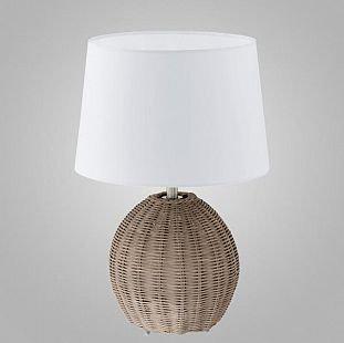 Eglo ROIA 92913 Настольная лампаИз ротанга<br>Настольная лампа – это не просто источник дополнительного освещения, но и оригинальный элемент декора. Его можно установить в спальне, гостиной, кабинете и других комнатах. Интернет-магазин «Светодом» предлагает настольные лампы разных стилей по доступным ценам. Благодаря большому ассортименту Вы обязательно найдете в нашем каталоге именно ту модель, которую искали. <br> Настольная лампа Eglo 92913 – прекрасный вариант для завершения интерьера. Ее можно включить одновременно с люстрой для более яркого освещения или без нее для создания уютной атмосферы, настраивающей на отдых. <br> Купить настольную лампу Eglo 92913 Вы можете с помощью виртуальной «Корзины» или по контактным номерам, указанным на сайте.<br><br>S освещ. до, м2: 4<br>Тип лампы: накаливания / энергосбережения / LED-светодиодная<br>Тип цоколя: E27<br>Количество ламп: 1<br>MAX мощность ламп, Вт: 60<br>Диаметр, мм мм: 270<br>Размеры основания, мм: 0<br>Высота, мм: 400<br>Оттенок (цвет): бежевый<br>Цвет арматуры: серый<br>Общая мощность, Вт: 1X60W