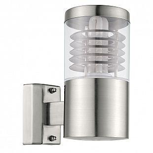 Eglo BASALGO 93269 Светильник настенный уличныйХай-тек<br><br><br>Тип цоколя: E27-ESL-2U<br>MAX мощность ламп, Вт: 1X15<br>Длина, мм: 100<br>Расстояние от стены, мм: 150<br>Высота, мм: 210<br>Оттенок (цвет): прозрачный<br>Цвет арматуры: серебристый<br>Общая мощность, Вт: 2