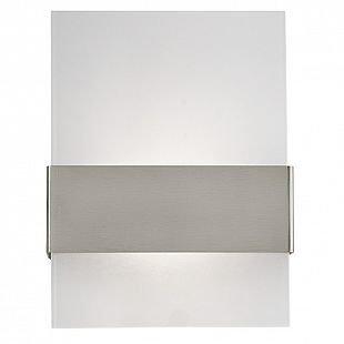 Eglo NADELA 93438 Светильник настенный уличныйБра хай тек стиля<br><br><br>Цветовая t, К: 3000 (теплый белый)<br>Тип цоколя: LED-MODUL<br>Цвет арматуры: серебристый<br>Длина, мм: 215<br>Расстояние от стены, мм: 90<br>Высота, мм: 290<br>Оттенок (цвет): белый<br>MAX мощность ламп, Вт: 2X2,5<br>Общая мощность, Вт: 1