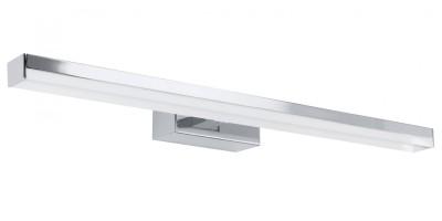 светильник для ванной комнаты и зеркал Eglo 91365 HAKANAсветильники для подсветки картин<br>Австрийское качество модели светильника Eglo 91365 не оставит равнодушным каждого купившего! Матовое закаленное стекло(пр-во Чехия), Хромированный корпус, Сменные светодиоды, Класс изоляции 3, IP 20, Экологически безопасные технологии, освещенность 431 lm ,L=580Н=60,21W (132 LED),LED.