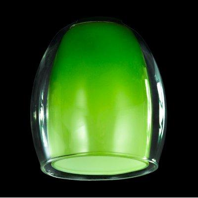 Плафон Евросвет 9808 зеленый+прозрачный, арт. 70436плафоны для люстр и светильников<br>