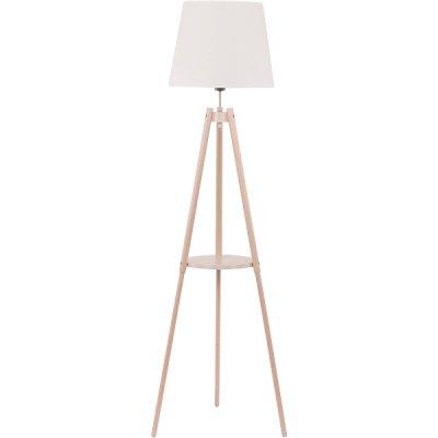Торшер TK Lighting 1090 lozano 1торшеры лофт стиля<br><br><br>Тип лампы: Накаливания / энергосбережения / светодиодная<br>Тип цоколя: E27<br>Цвет арматуры: деревянный<br>Количество ламп: 1<br>Диаметр, мм мм: 400<br>Высота, мм: 1480<br>Поверхность арматуры: матовая<br>Оттенок (цвет): белый<br>MAX мощность ламп, Вт: 60