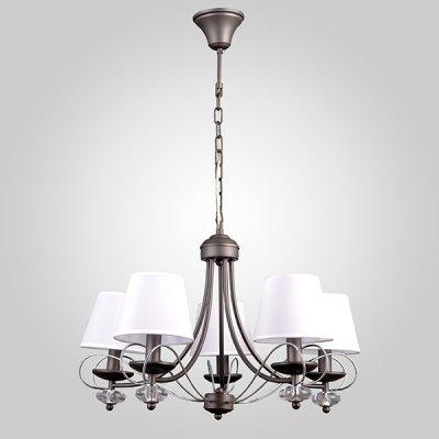Светильник Евросвет 70046/5 серый/хромсовременные подвесные люстры модерн<br>